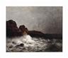 William Trost Richards, Birds over rough seas