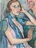 Friedrich Ahlers-Hestermann, Portrait Alexandra Povorina - Mirabelle Garden in Salzburg