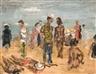 Paul Maas, Figures on the beach
