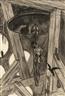 Félicien Rops, Le pendu (Dessin original pour la légended'Ulenspiegel)