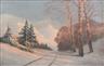 Mikhail Guermacheff, Sunset over a winter landscape