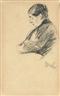 Max Liebermann, Bildnis der Frau des Künstlers, eingenickt