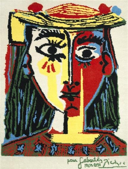 Picasso Pablo | Portrait de femme au chapeau à pompons et au corsage ...