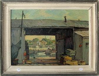 Eddy's Alley on Tuna Wharf By Jacob I. Greenleaf