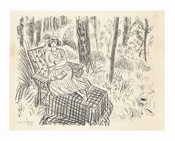 Matisse henri danseuse au divan pli e en deux from dix for Chaise longue deux personnes