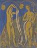 Emile Bernard, Femmes nues sur fonds bleus