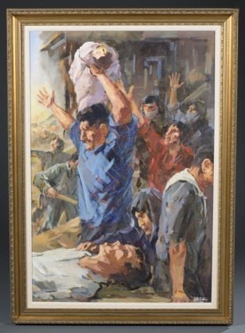 Bteddini Wahib | Lebanese Civil War scene (1990) | MutualArt
