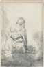 Rembrandt van Rijn, The Virgin and Child in the Clouds