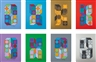 Victor Vasarely, Set of 8; Sonora