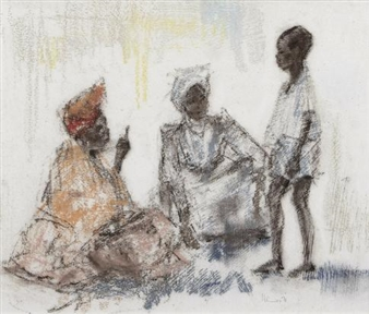 Otto (edward Henry) Schröder   Herero Women   MutualArt