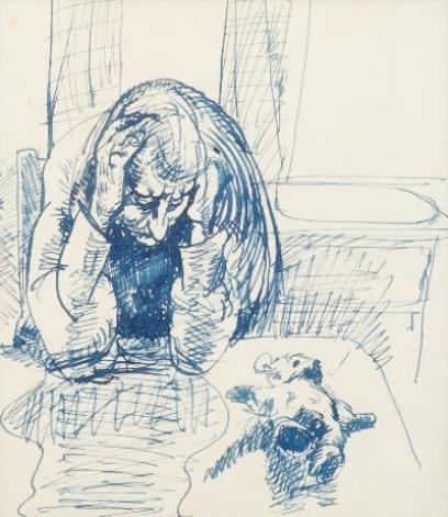 Robert Lenkiewicz Depressed At Trevorden Cottage