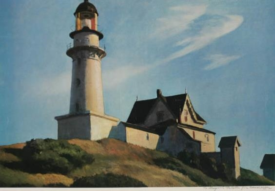 Artwork by Edward Hopper, Lighthouse at Two Lights, Made of Lithograph in color