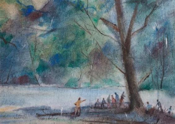 Figures Along a Landscape - David P. Hares