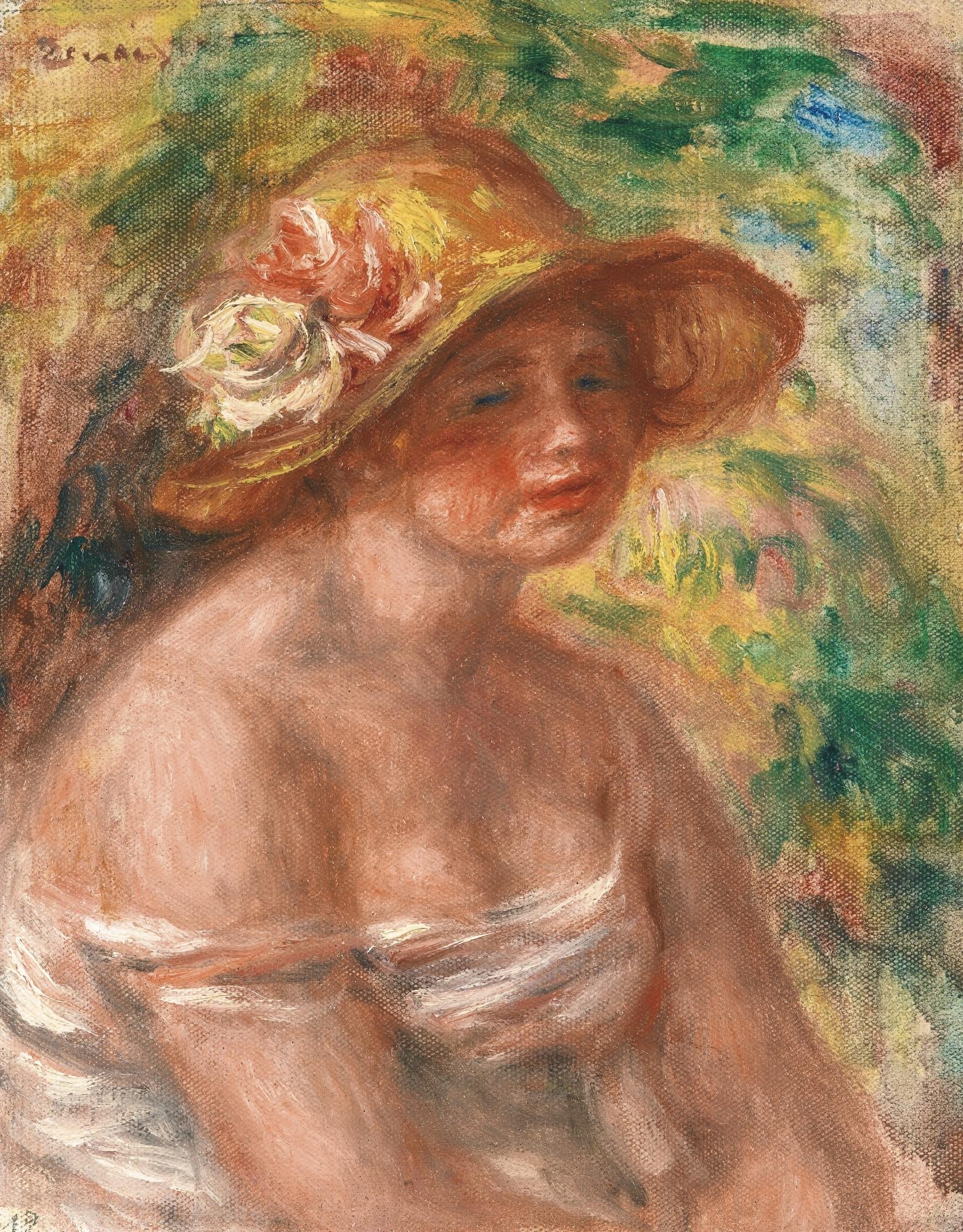 pierre auguste renoir femme en chapeau de paille