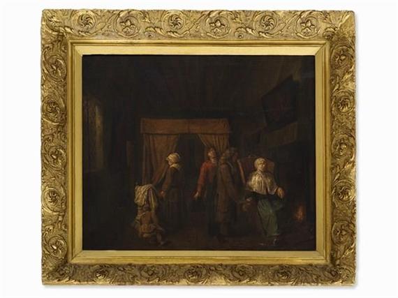 Jan josef horemans the elder the doctor visit for Horemans interieur
