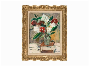 maurice utrillo vase de fleurs sur une table. Black Bedroom Furniture Sets. Home Design Ideas