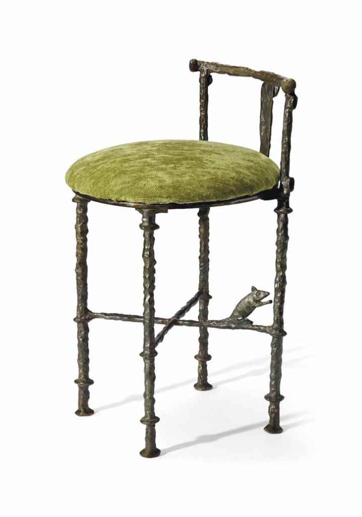 diego giacometti tabouret de coiffeuse 39 a la. Black Bedroom Furniture Sets. Home Design Ideas