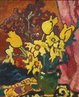 Louis Valtat Bouquet De Fleurs Jaune 192 La