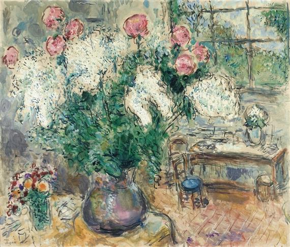 marc chagall bouquets dans l 39 atelier de. Black Bedroom Furniture Sets. Home Design Ideas