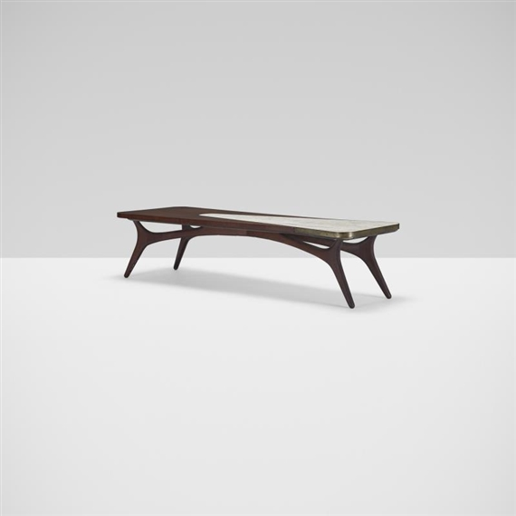 Vladimir Kagan Coffee Table Circa 1950 Walnut