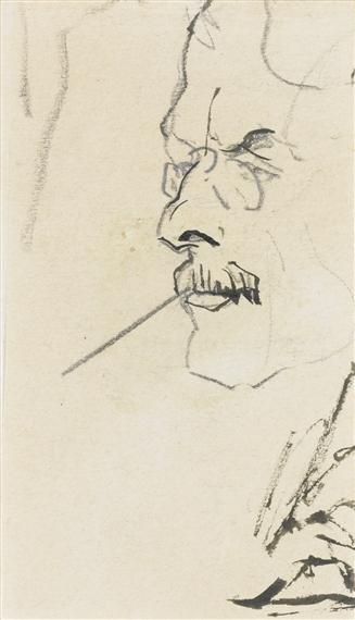 Macke August | PORTRÄT WILHELM SCHMIDTBONN (PORTRAIT OF WILHELM ...