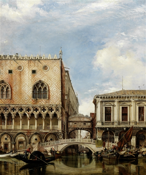 Edward William Cooke, Bridge of Sighs, Venice