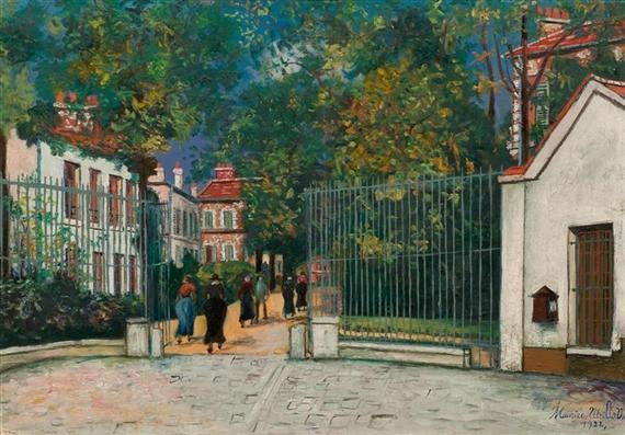 Artworks of maurice utrillo french 1883 1955 for 11 rue de la maison blanche
