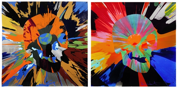 Hirst Damien Spin Painting With Skulls 2013 Mutualart