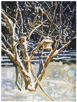 Peter Doig Bird House Small 1995 Oil On Canvas