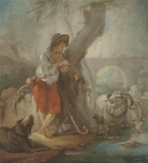 French School 18th Century A Shepherd Boy