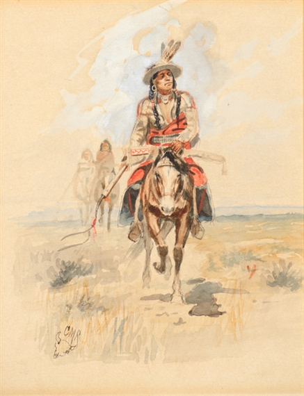 Charles Marion Russell, Indians Crossing the Plains