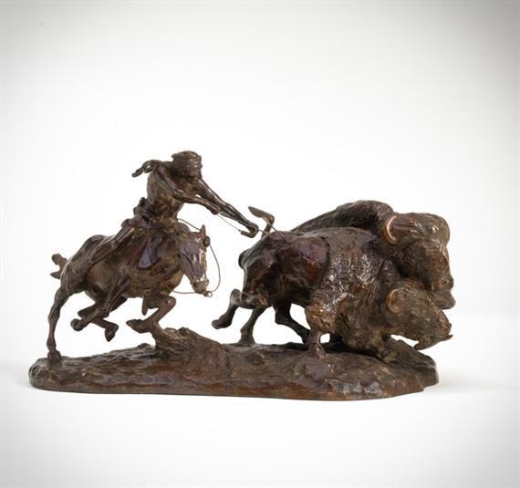 Charles Marion Russell, Buffalo Hunt [or] Buffalo Runner