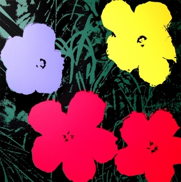 andy warhol flowers screenprint on museum. Black Bedroom Furniture Sets. Home Design Ideas