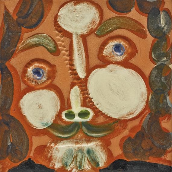 Pablo Picasso, VISAGE AU TRAIT OBLIQUE (ALAIN RAMIÉ 587)