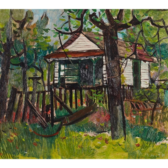 Artwork By Gordon Appelbe Smith COTTAGE IN THE WOODS Made Of Oil On Board