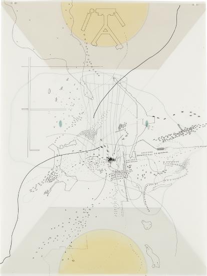 Mehretu Julie | Untitled (Terminal #5 O'Hare) (1998) | MutualArt