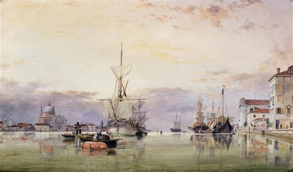 Edward William Cooke, The Canale della Giudecca with Redentore beyond