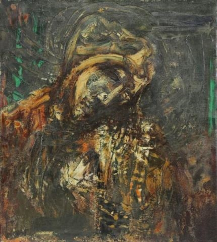 Joachim Probst - Mother of Christ, 1956, Oil on Canvas