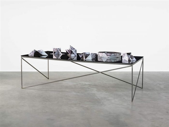 Artwork By Erika Hock Six Models On A Table Made Of Inject Print