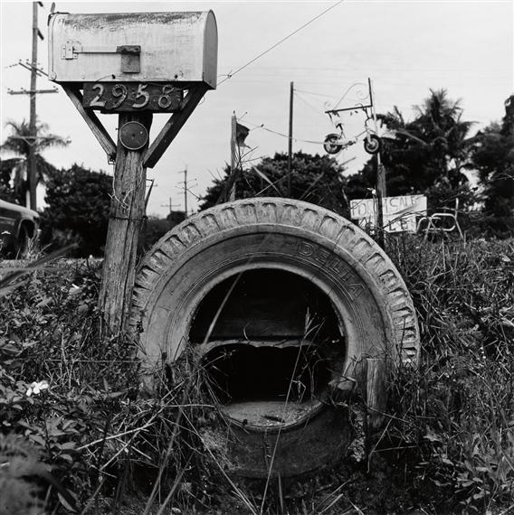 Robert Rauschenberg Study Of A Mailbox And Tire