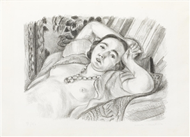 Artwork by Henri Matisse, Odalisque au Collier, Made of Lithograph on tissue-thin laid paper