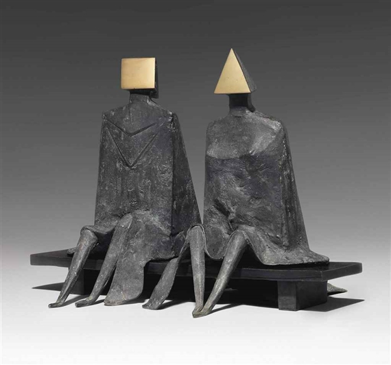 Lynn Chadwick Maquette I Sitting Couple On Bench