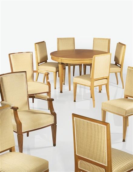 Quinet Jacques Table De Salle A Manger Huit Chaises Et