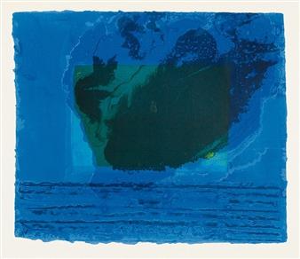 Howard Hodgkin A Storm 1977 Lithograph Printed
