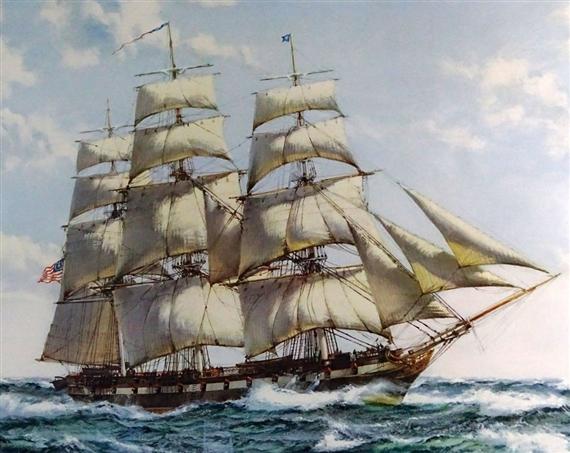 Montague Dawson, USS Constellation