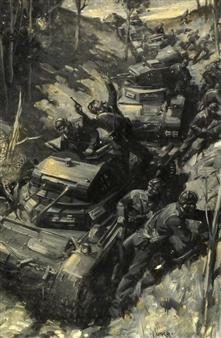 Cuneo Terence | U-Boat battle scene | MutualArt