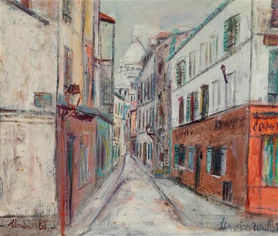 Maurice Utrillo Rue Saint Rustique Montmartre