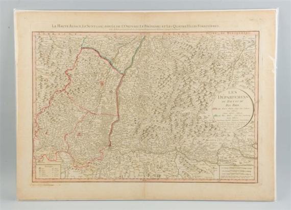 French School 18thcentury Map Of Southwest Germany Mutualart