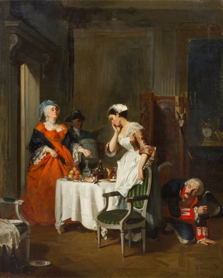 Joseph Caraud Discovered 1854 Oil On Canvas