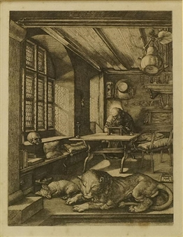 Albrecht d rer st jerome in his study heliogravure for Albrecht hesse